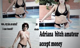 Adriana flash, outdoor, for money