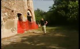 Stella, battona italiana cicciona fottuta in porno outdoor