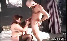 Audizione porno con Angela grasssa porca dai capelli rosis
