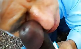 Cornuto bisex spompina il cazzo nero